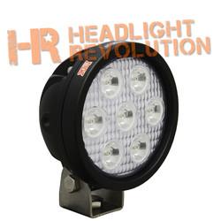 "Vision X 4"" ROUND UTILITY MARKET XTREME BLACK 7 5W LED'S 60 degree WIDE"