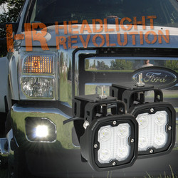 Vision X 1999-2014 FORD SUPERDUTY FOG LIGHT UPGRADE KIT WITH DURA-410 LIGHTS AND HARNESS