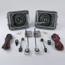 STARR HID XP7002B Bi-Xenon Black Projector Headlights Kit 2005 - 2010 Hummer H3