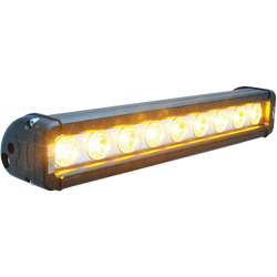 "Vision X 12"" XMITTER LOW PROFILE BLACK 9 3W AMBER LED'S 10° NARROW"