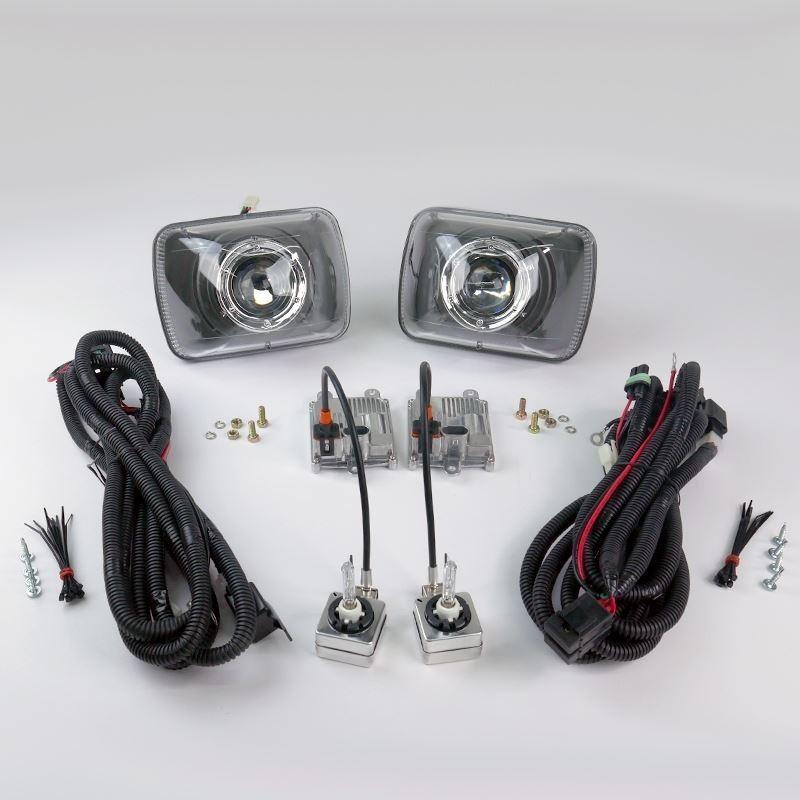 starr hid starr hid xp6054b bi xenon black projector headlights kit