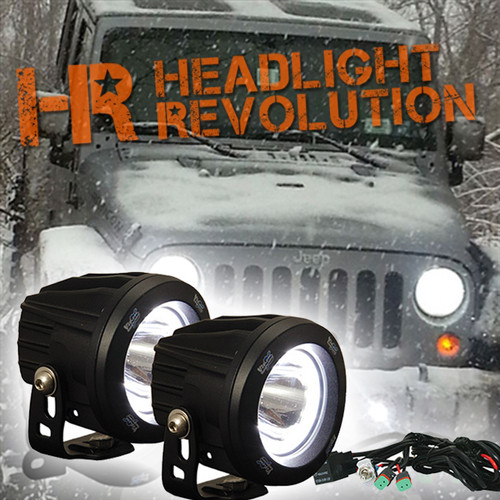 Vision X 10 13 Jeep Jk Fog Light Upgrade Kit With Optimus Halo
