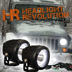 Vision X 10-13 JEEP JK FOG LIGHT UPGRADE KIT WITH OPTIMUS HALO