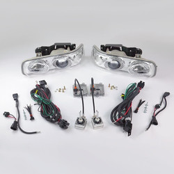Starr HID XP3004C DOT Approved Chrome Projector Headlights Kit 1999 - 2006 Silverado Tahoe Suburban