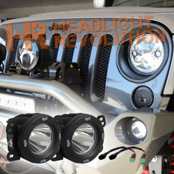 Vision X 07-09 JEEP JK FOG LIGHT UPGRADE KIT WITH OPTIMUS 20 DEGREE LED LIGHTS