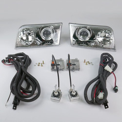 Starr HID XP3017C Bi-Xenon Chrome Projector Headlights Kit 1998 - 2011 Ford Crown Victoria