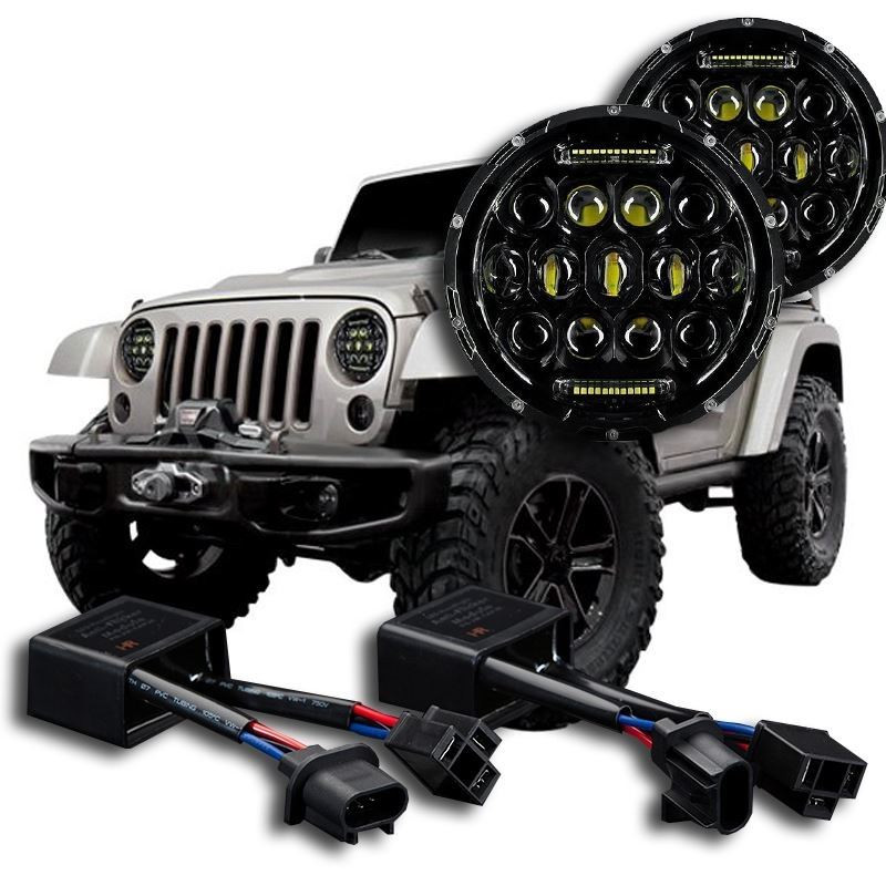Jeep wrangler aftermarket headlights