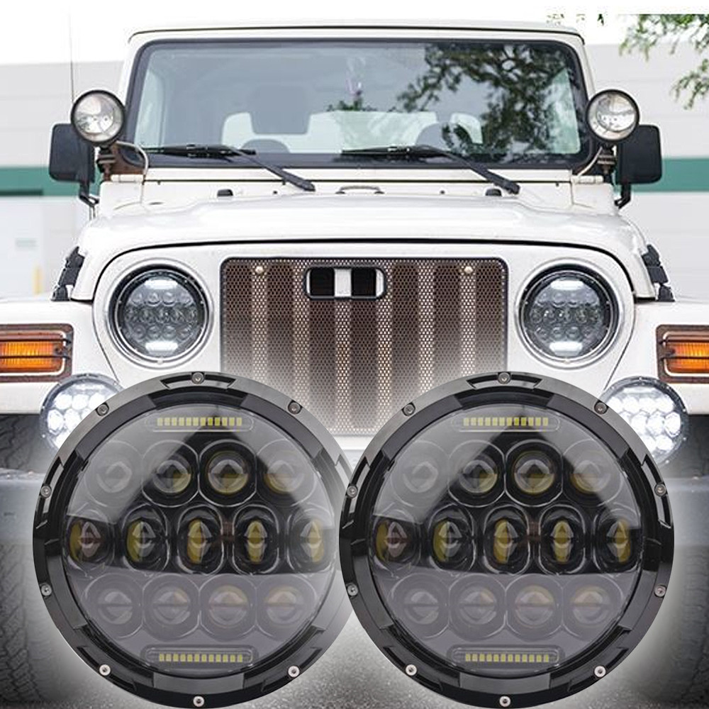 1996 - 2006 jeep wrangler tj led headlight kit - oracle 75w black