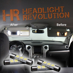 2007 - 2017 Toyota Tundra LED Vanity Light Bulbs Upgrade