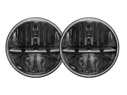 "Rigid Industries 55001 7"" Round Headlight with H13 to H4 Adaptor - Pair"