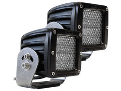 Rigid Industries 522513 D2-Series HD Diffused 60 Degree Flood LED Light; White - Pair
