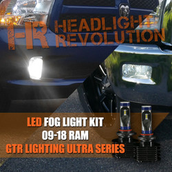 2009 - 2018 Dodge Ram LED Fog Light Upgrade - GTR Lighting