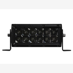 "Rigid Industries 106212BLK E-Series Midnight Edition Black 6"" Spot Light Bar"