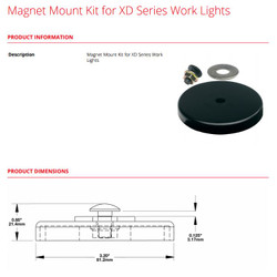 JW Speaker Magnet Mount Kit for XD Series Work Lights