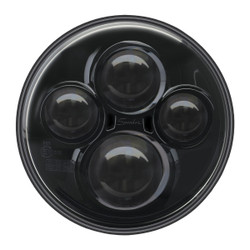 "JW Speaker Model 8710 12/24V 7"" Round High Beam Driving Light - Black"