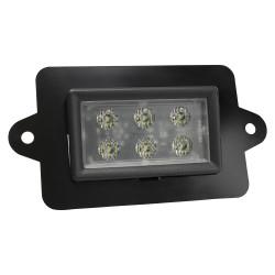 JW Speaker Model 806 12V LED Work Light with Flood Beam Pattern & 10 degree Mounting Plate