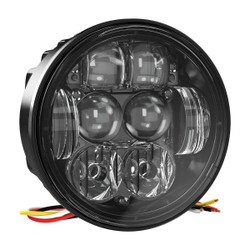 "JW Speaker Model 6130 Evolution 4.75"" Round LED Dual-Beam Headlight (SAE/ECE High and Low Beam)"