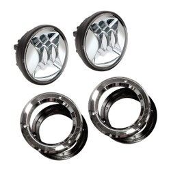 "JW Speaker Model 6045 4.5""12V LED PAR36 Fog Light Chrome - Kit of 2 Lights With Mounting Assembly"
