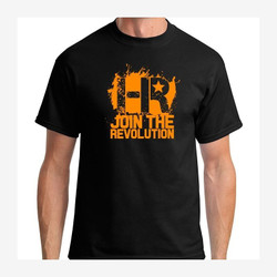Headlight Revolution T-Shirt Black and Orange