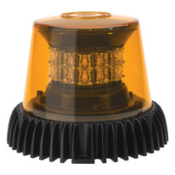 JW Speaker Model 601 	12-24V ECE/SAE 3-Mode Amber Class I LED Strobe Light with Black Housing