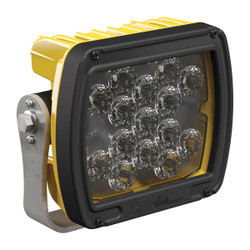 JW Speaker Model 526 	12-24V LED Work Light with Yellow Housing, Glass Lens & Trapezoid Beam Pattern