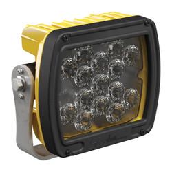 JW Speaker Model 526 12-24V LED Work Light with Yellow Housing, Glass Lens & Flood Beam Pattern