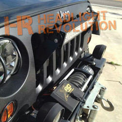 Headlight Revolution SFZ JEEP JK Stealth Grill LED Bar Mount