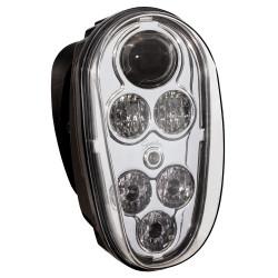JW Speaker Model 515 12/48V LED Forklift Headlamp Chrome