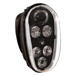 JW Speaker Model 515 12/48V LED Forklift Headlamp Black