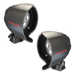 JW Speaker Model 4415-12/24V ROUND LED SPOT 2-LIGHT KIT WITH SIDE VIEW MIRROR MOUNT