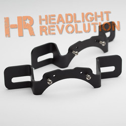 Headlight Revolution Jeep JK Rubicon X Bumper Mount Brackets for 6145 Fog Lights