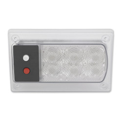 JW Speaker Model 417 24V Red/White LED Dome Light with Inner Optics
