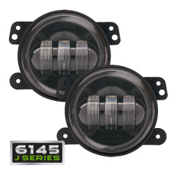 JW Speaker 6145 J Series LED Jeep Fog Light Kit (2 Lights) - Black