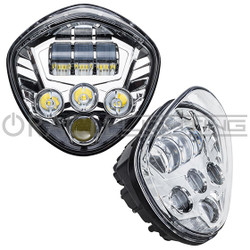 ORACLE Victory Motorcycle Replacement LED Headlight - Chrome