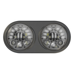 JW Speaker 12V DOT/ECE LED High & Low Beam Adaptive Headlight w Black Inner Bezel - Pre-assembled 2 Light Kit