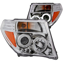Anzo 2005 - 2008 Nissan Frontier Projector Headlights Chrome Clear