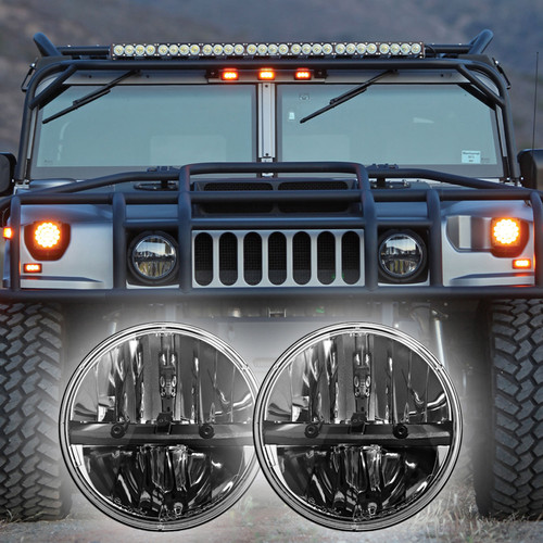 1992 2004 Hummer H1 Led Headlight Kit Truck Lite
