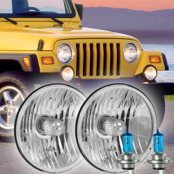 1997-2006 Jeep Wrangler TJ Halogen Headlight Housings Kit