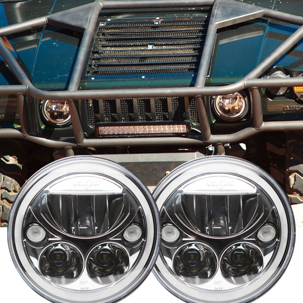 Hummer 2004 hummer h1 : 1992 - 2004 Hummer H1 LED Headlight Kit - Vision X Vortex XIL-7RD ...