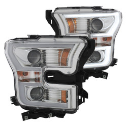 Ford F150 2015+ Anzo Chrome U-Bar Projector LED Headlights