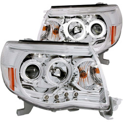 ANZO TOYOTA TACOMA 05-11 PROJECTOR HEADLIGHTS CHROME CLEAR (CCFL)