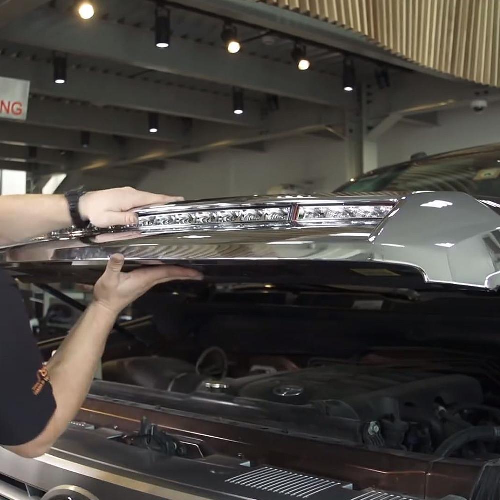 2014 2018 Toyota Tundra Hood Grille Knight Rider Led Light Bar Kit Wiring Jeep Jk Nsv