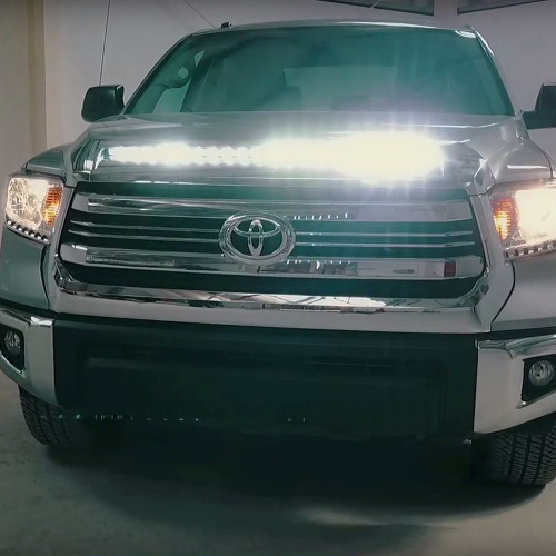 2014 2018 Toyota Tundra Hood Grille Knight Rider Led Light