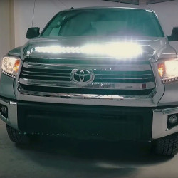 2014-2018 Toyota Tundra Hood Grille Knight Rider NSV LED Light Bar Kit - Multi Function!