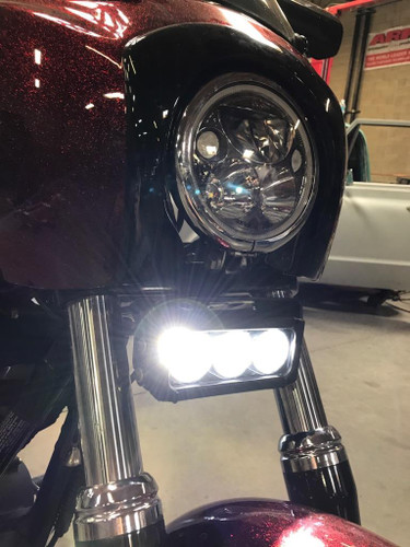 Vision x motorcycle universal led light bar kit headlight revolution dont show again aloadofball Gallery