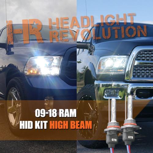 2009 2018 dodge ram hid headlights upgrade high beam. Black Bedroom Furniture Sets. Home Design Ideas