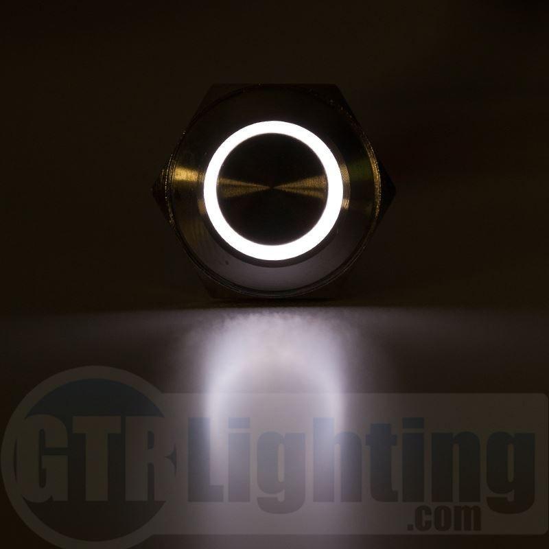 Gtr Lighting Led Halo Switch Black Bezel Momentary Switch