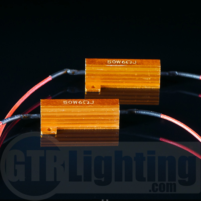 GTR Lighting & GTR Lighting 50 watt 6 ohm Gold Style Resistors for Custom ... azcodes.com