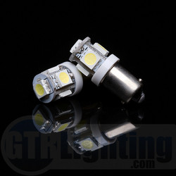 GTR Lighting H6 / BA9S 5-LED Bulbs