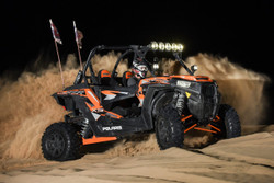 "KC HiLiTES GRAVITY® LED PRO6 LED LIGHT BAR - 32"" Polaris RZR 5-Ring"